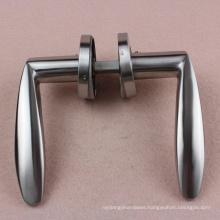 Guangzhou door handle manufacturer supply Stainless steel Door Handle on Rose fitting hardware