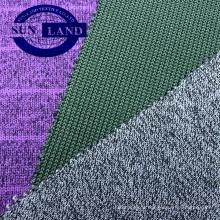 chandail à capuchon en hiver à la recherche de fils teints en tissu polaire épais 100 polyester tricoté