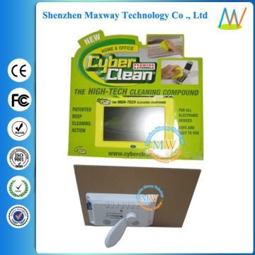картон стоит дисплей с 7-дюймовый ЖК-экран