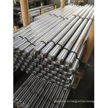 Barras de acero cromado