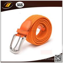 New Fashion Factory Bottom Price Best Selling Pain Elastic Braid Belt