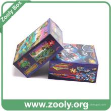 Corrugated 3D Impressão Puzzle Packing Box Kit