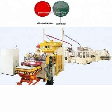 Linha de produção da máquina de fabricação de tampas de rosca de metal