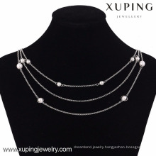42814 Xuping Fashion Silver color Chain Necklace For Women Jewelry