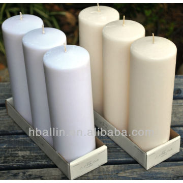 Pillar Candles 3x6 inch Unscented Candle Dripless Clean Burning SmokelessDinner Candle untuk Pernikahan, Pesta Acara Khusus