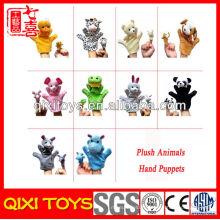 Ensembles de marionnettes à main en peluche animaux personnalisés