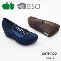 Ladies nuova Pvc zeppa Fashion Design Casual scarpe