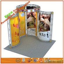la botte en aluminium portative de botte d'affichage de botte montre le stand fait sur commande de salon de cabine de l'usine de Changhaï