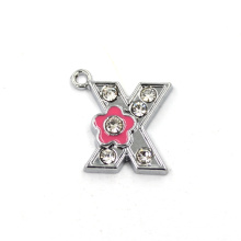 Small Flower Charms Charm Initial Letter Pendant