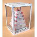 Pop Acryl Display Regal für Kuchen, Werbung Display Stand