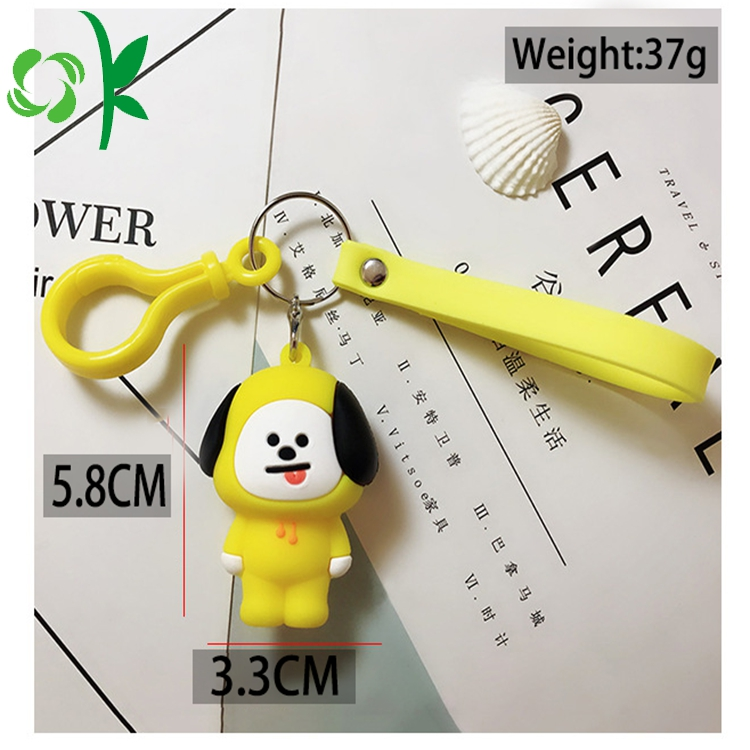 Yellow Dog Silicone Keyring