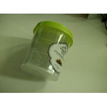 Plastique transparent jetable pour boîte à récipient à la crème glacée