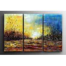 100% handgemachte Segeltuch-Kunst-abstrakte Malerei für Wohnzimmer (XD3-126)