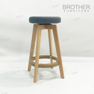 Hot upholstered kitchen counter wooden swivel bar stools