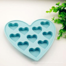 Eco-Friendly Colorful Heart Customize Silicon Cake Moulds