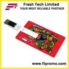 Style de carte de crédit USB Flash Drive avec logo (D607)