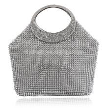 Серебро дамы ужин мешок муфты невесты мешок для Свадебные вечерние использовать для новобрачных сумки B00038 женщины сумочка