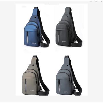 Mens Fashion Multifunctional Waterproof PU Chest Bag