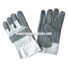 Dunkle Farbe voller Palm Möbel Leder Handschuh-4024