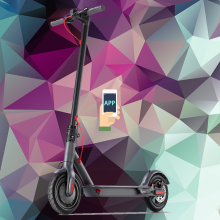 sale fast two wheel 500W 1000W electric scooter
