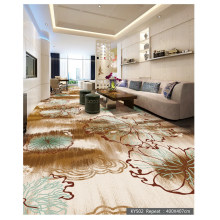 Luxury Living Room Crystal 550G Printed Floor Carpet