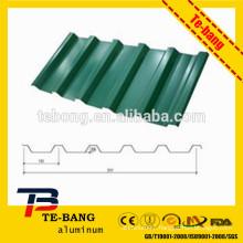 Stone coated aluminum step tile roofing sheet