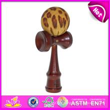 Date en bois Kendama Toy Set, Kendama pour gros bois Kendama Balls Kendama, bois Kendama Toy avec 18 * 6 * 7 cm W01A017