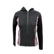 Casaco activewear de manga comprida de malha para mulher