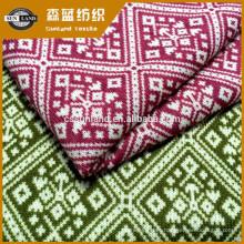Tejido suéter de aguja gruesa 100% poliéster impreso
