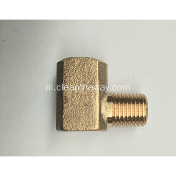 "Hogedrukreiniger 90 ° Messing 3/8 ""FNPT * 3/8"" MNPT-connector"