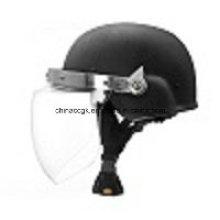 Kugelsicherer Helm mit Visier