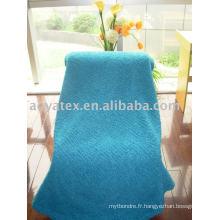 Couverture de molleton de tricot de corail de trame (peluche longue de pile)