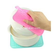 Fashion Pink Silicone Pot Wrapper Table Glass Coaster