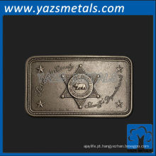 personalize fivela de cinto de metal, fivelas de cinto do departamento de xerife do condado de Los Angeles, de alta qualidade personalizados