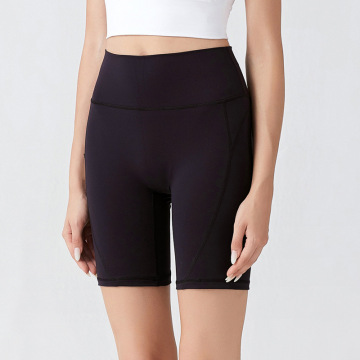 Frauen High Taille Bauch Kontrolle Yoga Shorts