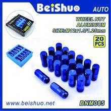 20PCS cor azul alumínio Lug Nut Set para Atacado