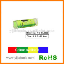 Plástico nível de bolha cilíndrica com padrão ROHS YJ-SL0822