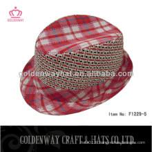 Beaux chapeaux de Fedora rouge pour le coton de dame 100% LED flash fo party