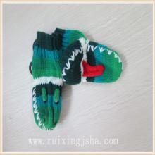 crianças padrão de sapo de luvas de malha