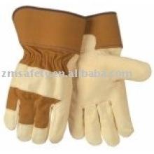 high quality cow grain leather work glove