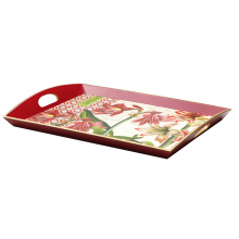 MDF Serving Tray with Coloful Flower (650099)