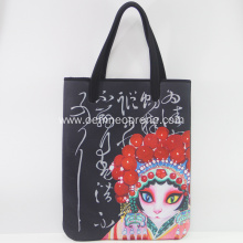 Fashion Chinese Opera Neoprene Shoulder Bags