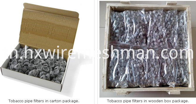 tobacco pipe filter packing