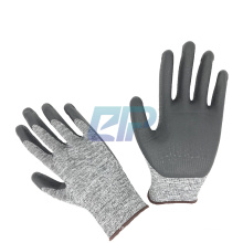 Gray Nylon Lunar Foam Nitrile Palm Dip Gloves On Salt Pepper
