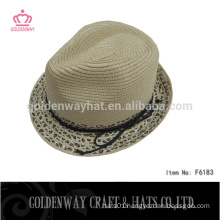 leopard fedora hat khaki fedora hat trilby/fedora hat