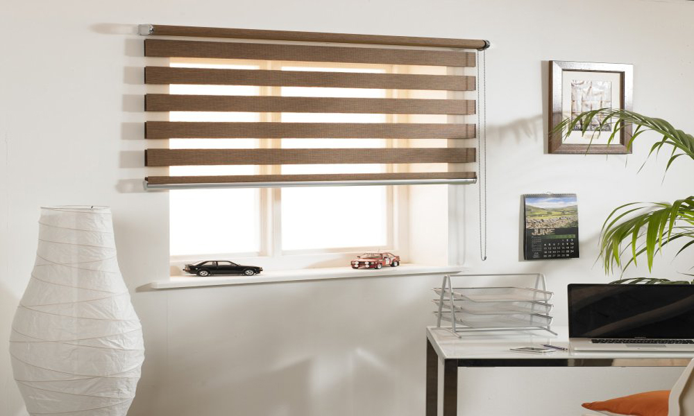 Horizontal zebra blinds