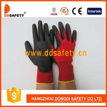 Нейлон полиэфира лайнера перчатки с полиуретановым покрытием на ладони и пальцах Dpu138