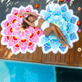 Large Round Printed Lotus Wholesale Luxury Beach Towels