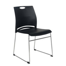Stacking Plastic Seat Metal Frame Office Chair Without Wheels Conference Room Training Chair