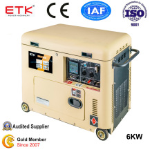 6kw Single Cylinder Soundproof Electric Generator (DG7250LN)